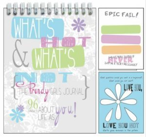 notebook for girls at summer camp