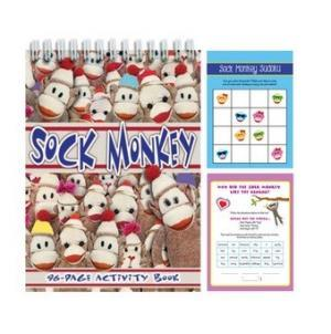 sock monkey activity book