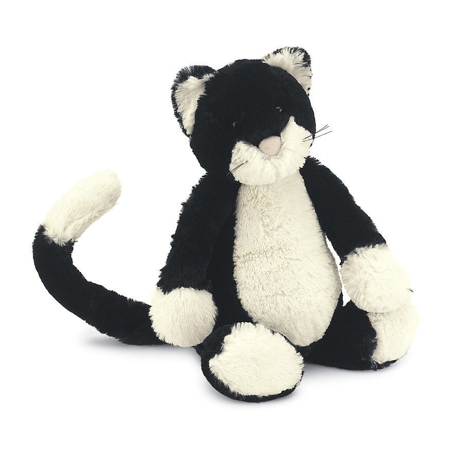 Bashful Black White Kitten Camppacs