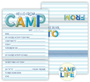 Fold N' Seal Hello From Camp Cards (Blue)
