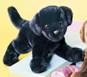 Brewster Black Lab Stuffed Dog