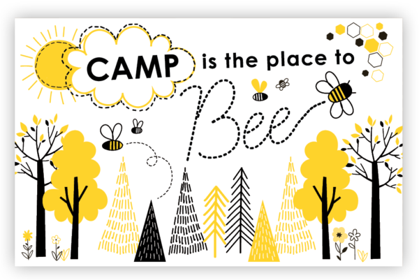 Camp is the Place to Bee Post Cards