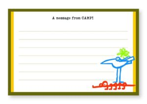Message From Camp Postcards