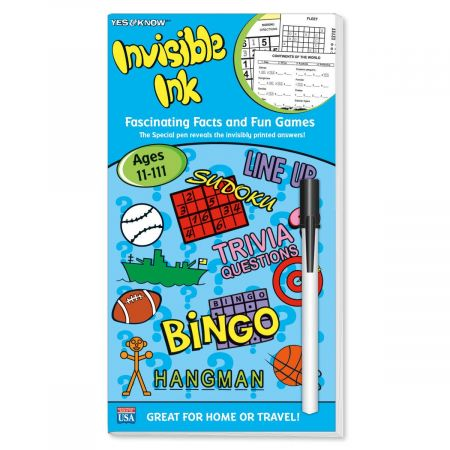 Intermediate Invisible Ink Facts and Fun Games