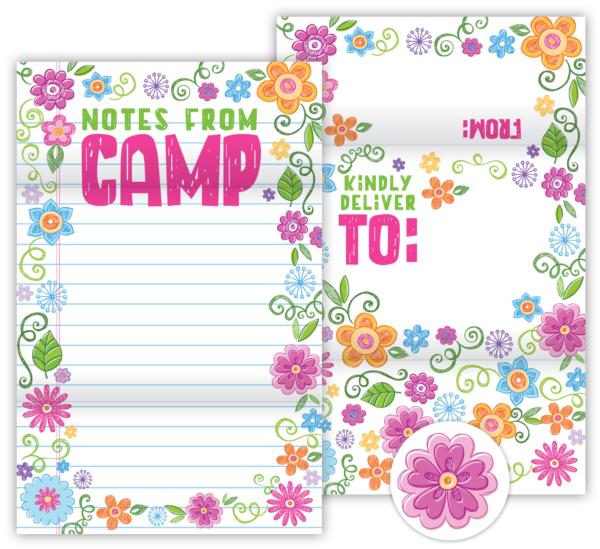 Fold N' Seal Hello From Camp Cards (Floral)