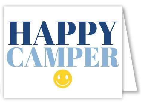 Happy Camper Blue Folded Notes