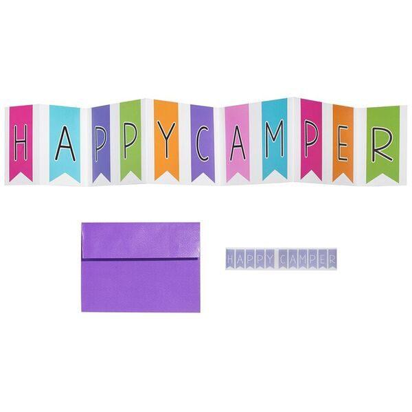 Happy Camper Banner Card