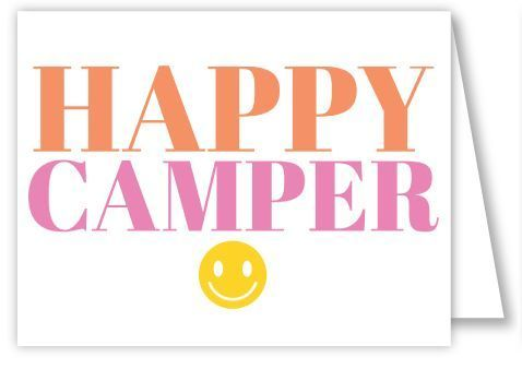 Happy Camper Pink Folded Notes