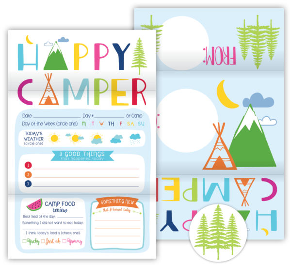 Fold N' Seal Hello From Camp Cards (Happy Camper)