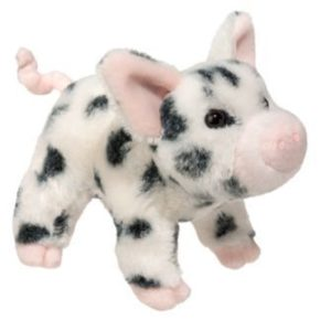 Leroy Black Spotted Pig Stuffed Children's Toy