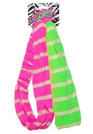 Neon Stripe Headband Set