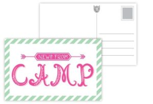 News From Camp Postcards Pink