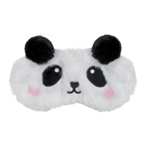 Panda Furry Embroidered Eye Mask