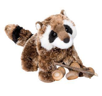 Patch Raccoon Stuffed Animal