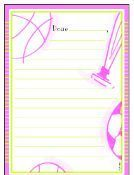 Pink Sports Stationery Kit