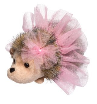 Pink Swirl Tutu Hedgehog Stuffed Animal