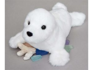 Snowflake White Seal Stuffed Children's Toy
