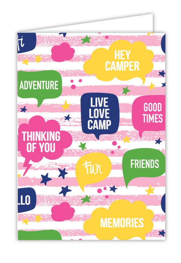 Thought Bubbles Greeting Card (Pink)