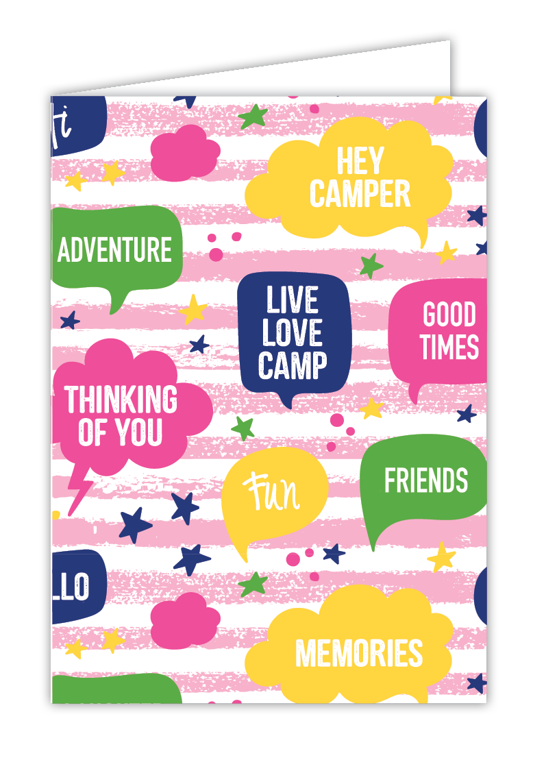 Thought bubbles greeting card pink camppacs thought bubbles greeting card pink m4hsunfo