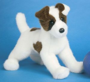 Weaver Jack Russell Stuffed Dog
