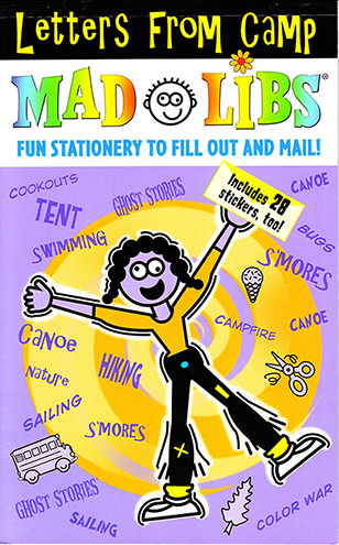 Mad Libs Letters From Camp
