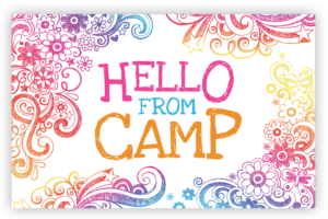 Hello From Camp - Floral