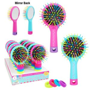 Pink Poppy Rainbow Hairbrush