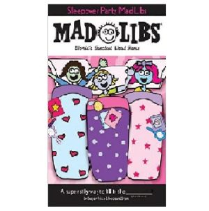 Mad Libs Sleepover Party