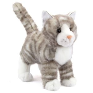 Zipper Grey Tabby Stuffed Animal