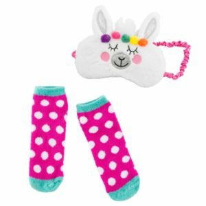 Llama Plush Sleep Mask and Sock Set