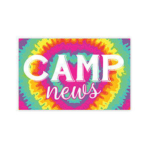 Tie-Dye Heart Camp News Postcards