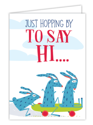 Just Hopping By to Say Hi… Card