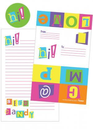 Color Block Foldover Cards with Stickers