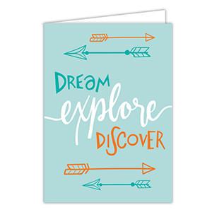 Dream Explore Discover Card