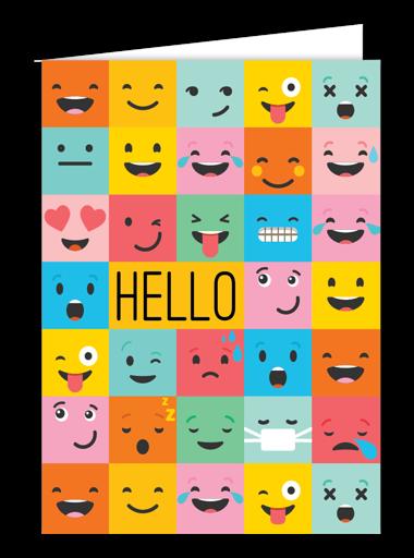 Hello Funny Face Card