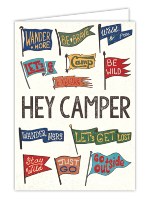 Hey Camper Flag Card