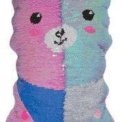 llama pillow reversible sequins