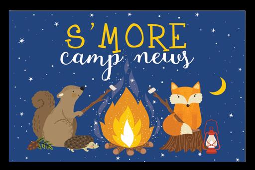 S'more Camp News Postcards