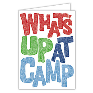 What's Up at Camp Blue Card