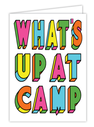 What's Up at Camp Color Block Card