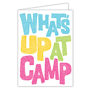 What's Up at Camp Pink Card